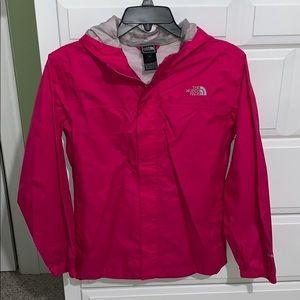 Girl's NORTH FACE Hot Pink Rain Coat Jacket XL 18
